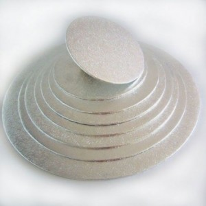 Semelle fine à gâteau FunCakes argentée ronde Ø10 cm