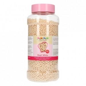 Perles de sucre FunCakes blanc perlé 4 mm 800 g