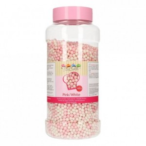 FunCakes Soft Pearls Pink/White 500g