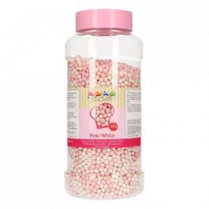 Perles tendres FunCakes roses et blanches 500 g
