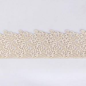 Dentelle en sucre floral perlé 38 x 7,5 cm