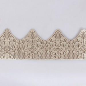 Dentelle en sucre art déco perlé 38 x 7,5 cm