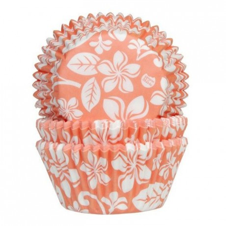 House of Marie Baking Cups Aloha Flower Apricot pk/50