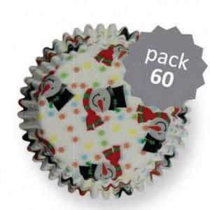 Caissettes à cupcakes PME Smiley Snowman par 60