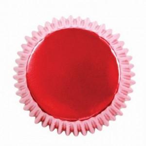 Caissettes à cupcakes PME Metallic Red par 30