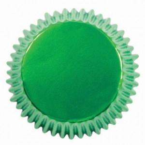 Caissettes à cupcakes PME Metallic Green par 30