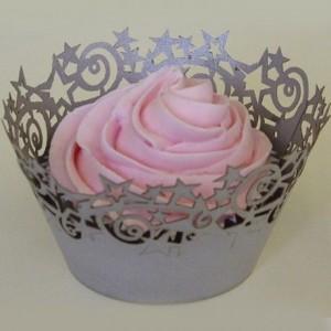 Caissettes à cupcakes PME Wrappers Silver par 12