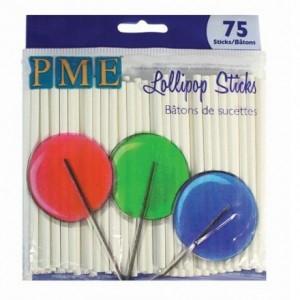 Bâtonnets à sucette PME par 75