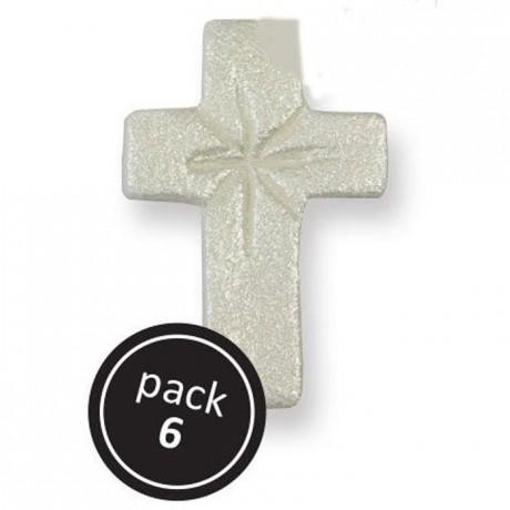 Croix en sucre perlé par 6