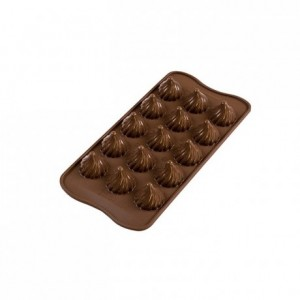 Moule silicone pour chocolat Flame Ø 27 x 28 mm