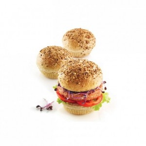 Burger Bread perforated silicone mould Ø 80 x 20 mm