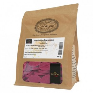 Raspberry Inspiration fruit couverture beans 500 g