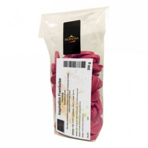 Raspberry Inspiration fruit couverture beans 200 g