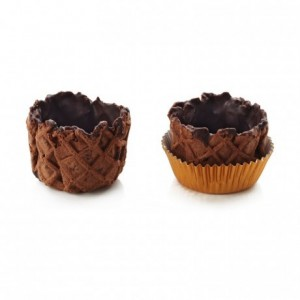 Basket crust cocoa La Rose Noire Ø40 mm (120 pcs)