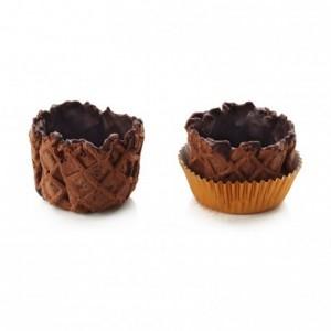 Paniers sucrés cacao La Rose Noire Ø40 mm (120 pièces)