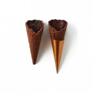 Cônes sucrés mini cacao La Rose Noire Ø25 x 65 mm (140 pièces)