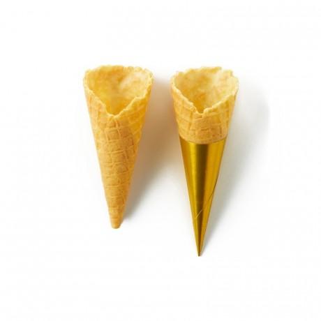 Sweet cone lemon La Rose Noire Ø25 x 65 mm (140 pcs)