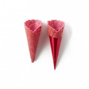 Cônes sucrés mini fraise La Rose Noire Ø25 x 65 mm (140 pièces)