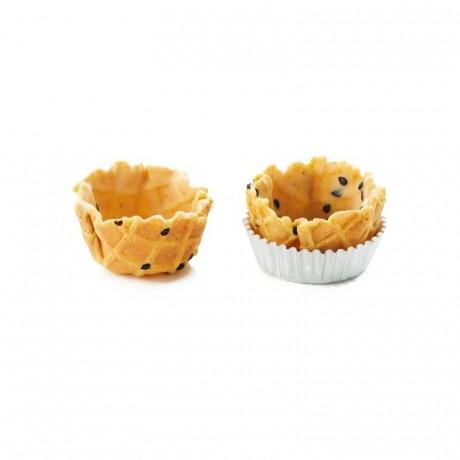 Paniers salés mini curry La Rose Noire Ø35 mm (168 pièces)