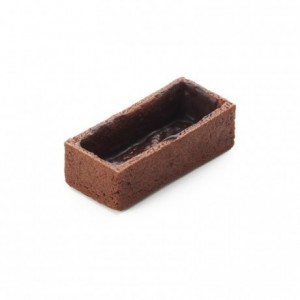 Rectangle pie crust cocoa La Rose Noire 53 x 24 mm (192 pcs)