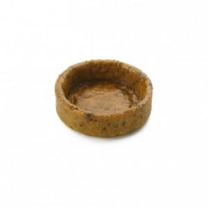 Salted round pie crust basil Slim Line AOP butter La Rose Noire Ø35 mm (210 pcs)
