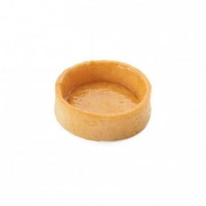 Salted round pie crust Slim Line AOP butter La Rose Noire Ø35 mm (210 pcs)