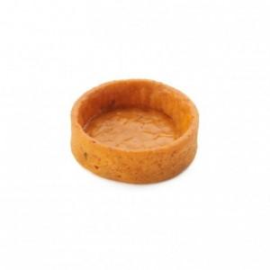 Salted round pie crust tomato Slim Line AOP butter La Rose Noire Ø35 mm (210 pcs)