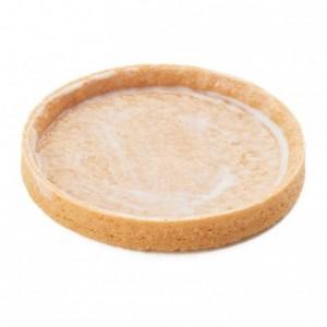 Round pie crust Slim Line AOP butter La Rose Noire Ø80 mm (55 pcs)