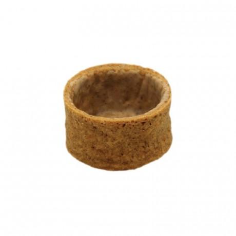 Round pie crust caramelised biscuit La Rose Noire Ø33 mm (210 pcs)