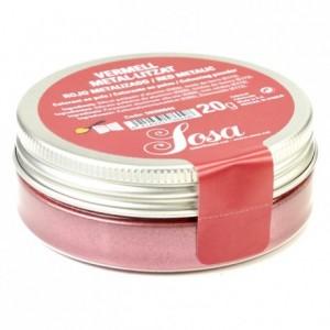 Colorant métallisé de surface rouge Sosa 20 g