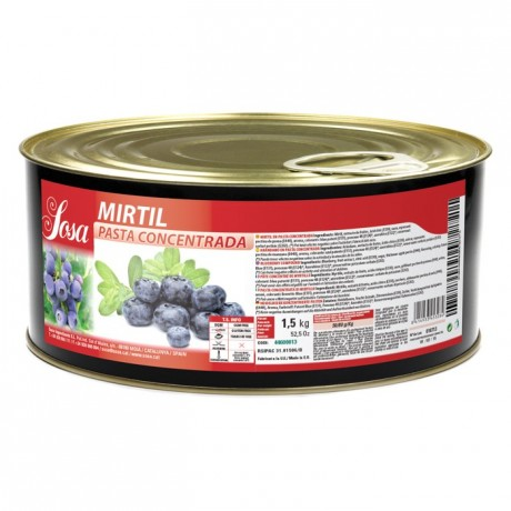 Blueberry concentrated dough Sosa 1,5 kg