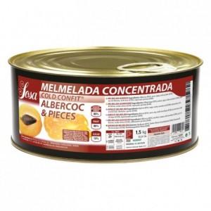 Confiture concentrée d'abricot morceaux Sosa 1,5 kg