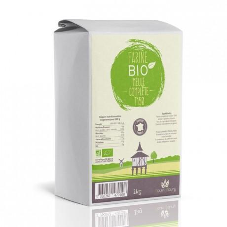 Farine bio de blé complète T150 1 kg