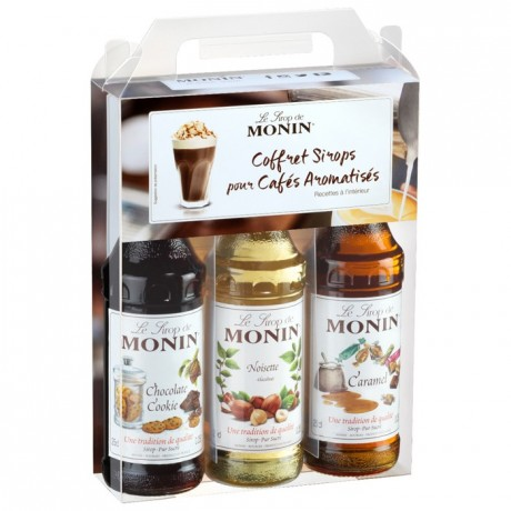 Coffee Monin syrup set 3 x 25 cL