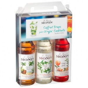 Coffret sirops virgin Monin 3 x 25 cL