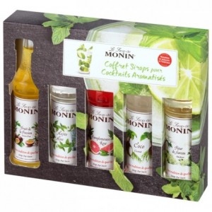 Coffret sirops cocktail Monin 5 x 5 cL