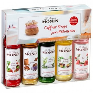 Coffret sirops pâtisserie Monin 5 x 5 cL