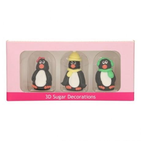 FunCakes Sugar Decorations 3D Penguin Set/3