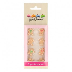 FunCakes Sugar Decorations Gingerbread Set/8