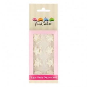 FunCakes Sugar Paste Decorations Stars Pearl White Set/24