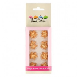 FunCakes Sugar Paste Decorations Stars Gold Set/24