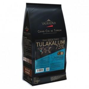 Tulakalum 75% chocolat noir de couverture pur Bélize fèves 3 kg