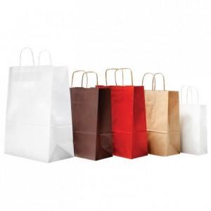 Paper shopping bag white 165 x 230 mm (50 pcs)