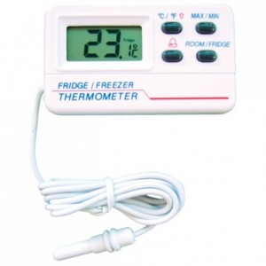 Digital thermometer temp alert certified -50°C to +70°C