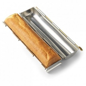 Round sandwich loaf mould «mignon» L 300 mm Ø 45 mm