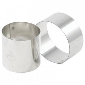 Nonnette ronde en inox Ø 50 mm H 30 mm (lot de 4)