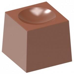 Moule 24 bonbons carrés creux en polycarbonate pour chocolat