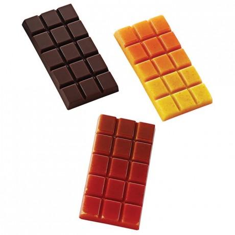 Moule 12 mini tablettes en polycarbonate pour chocolat