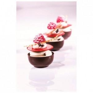 Moule 15 mini bols en polycarbonate pour chocolat