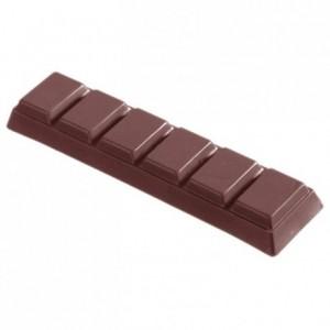 Moule 7 barres chocolat 50 g en polycarbonate pour chocolat